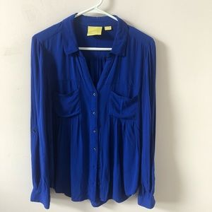 Anthropologie Maeve Royal Blue Blouse- Size M